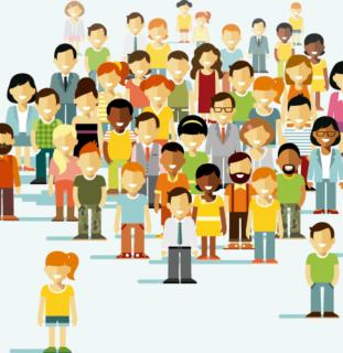 Ilustración de un grupo de personas