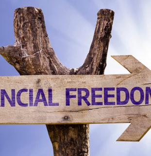 """Cartel """"libertad financiera"""""""